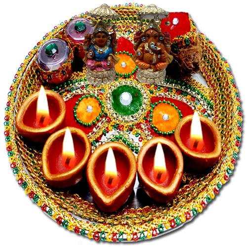 Lakshmi puja kit for Aarti thali decoration with pulses